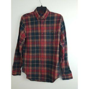 J Crew Flannel Shirt W/ Elbow Pads Men's Small